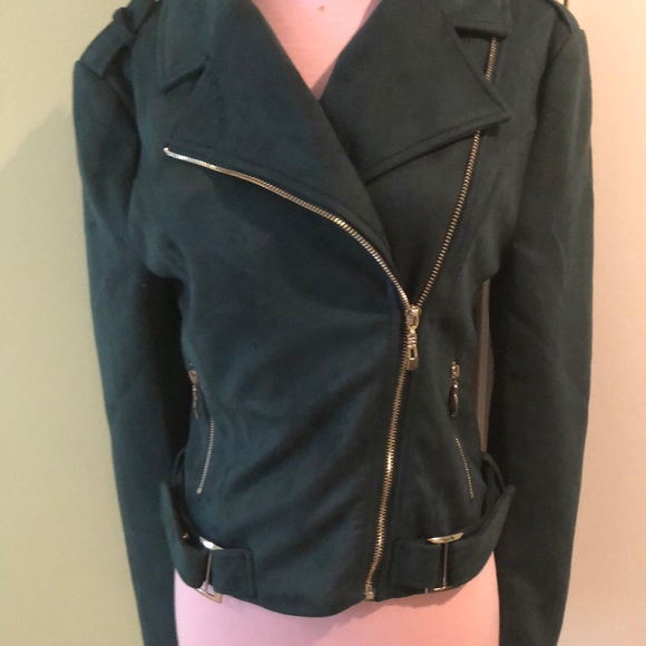 Romeo & Juliet Couture Jackets & Blazers - Faux soft suede biker jacket